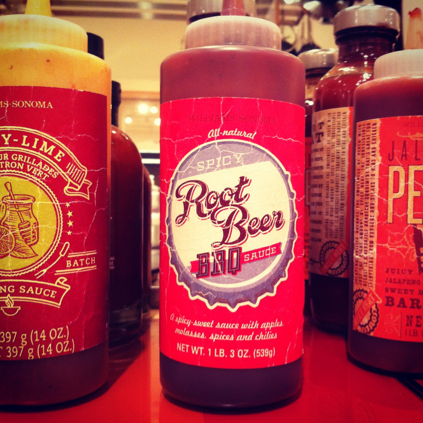 Root Beer BBQ Sauce from Williams-Sonoma, just picked up a bottle to try it out!
