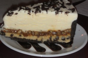 Turtle Chocolate Chip Cookie Dough Ice Cream Cake at Beef & Boards