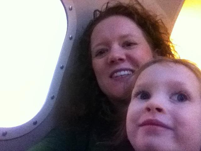 Cherie & Zoe on Plane