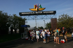 Crowds and their coolers stream into the IMS