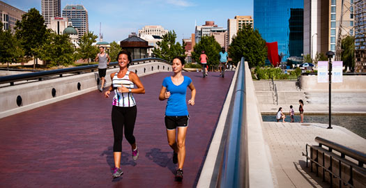 Check out these great places to run in Indianapolis!
