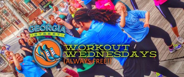 Checkout Workout Wednesdays on Georgia Street in Downtown Indianapolis