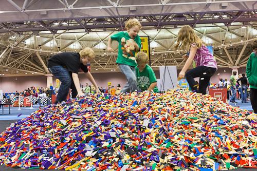 Lego Pile at LEGO KidsFest Indianapolis